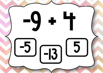 Integer Addition and Subtraction Boom Cards