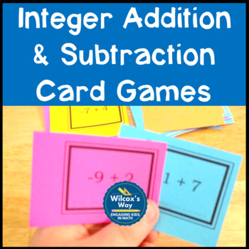 Adding and Subtracting Integers Card Games