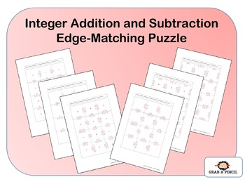 Integer Addition and Subtraction Edge-Matching Puzzles