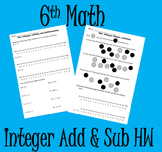 Integer Addition and Subtraction HW