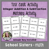 Integer Addition and Subtraction Matching Game