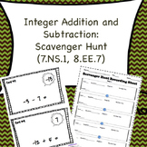 Integer Addition and Subtraction Scavenger Hunt (7.NS.1, 8.EE.7)