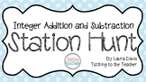 Integer Addition and Subtraction Station Hunt