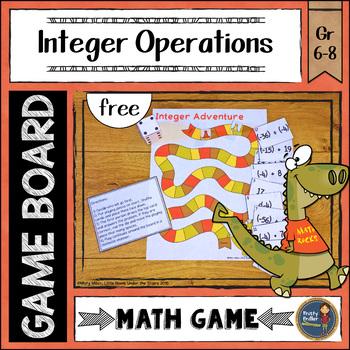 Integers Board Game {free}