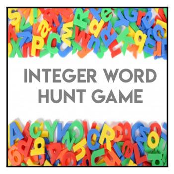 Integer Alphabet Word Hunt