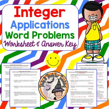 Integer Applications Word Problems Integers Add Subtract M