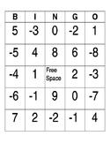 Integer BINGO  24 Printable Cards CCSS  ADDING INTEGERS