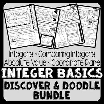 Integer Basics Doodle Notes Bundle