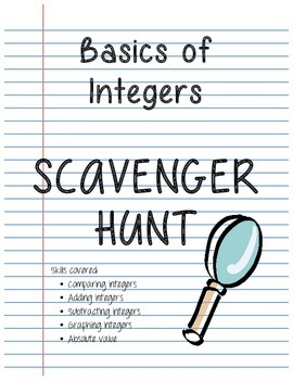 Integer Basics Scavenger Hunt
