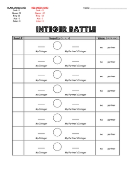 Integer Battle