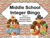 Integer Bingo-Absolute Value and Opposites- Middle School-