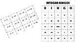 Integer Bingo Activity