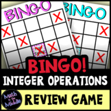 Integer Operations Bingo - Math Review Game