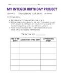 Integer Birthday Project