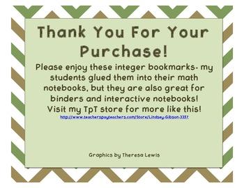 Integer Bookmarks