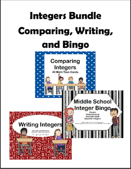 Integer Bundle-Comparing, Writing, and Bingo-Grades 6-8