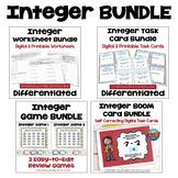Integer Bundle: Worksheets, Task Cards, Games, and Digital Task Cards