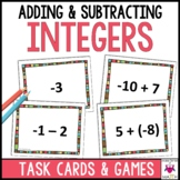 Adding and Subtracting Integers Task Card Games and Activities