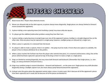 Integer Checkers