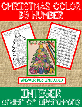 Integer Christmas Color by Number