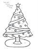 Integer Christmas Tree Coloring Sheet