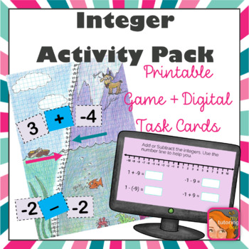 Integer Climb and Dive - an adding and subtracting integers game