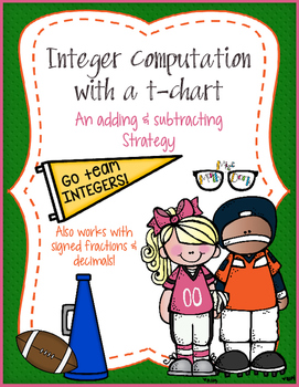 Integer Computation with a t-chart: An adding & subtractin