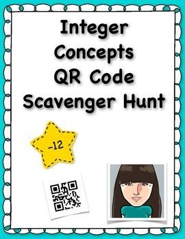 Integer Concepts QR Code Scavenger Hunt