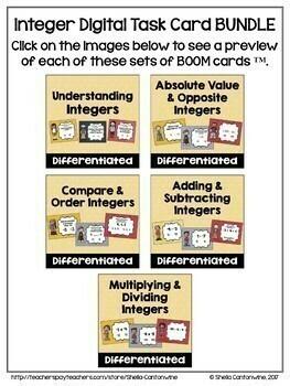 Integer Digital Task Card BUNDLE - BOOM Cards