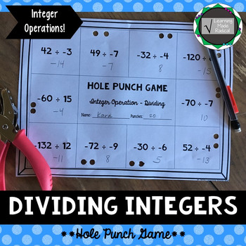 Integer (Dividing) Operation Hole Punch Game 7.NS.A.2