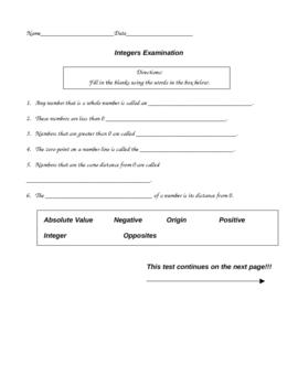 Integer Examination