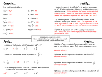 Integer Exponent Properties