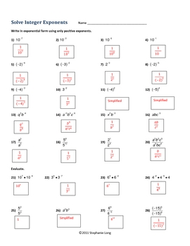 Integer Exponents