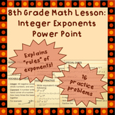Integer Exponents - A Power Point Lesson