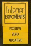 Integer Exponents (Foldable)