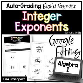 Integer Exponents (Google Forms/ Quizzes) Homework