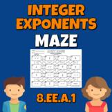Integer Exponents Math Maze Common Core 8.EE.1