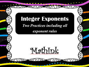 Integer Exponents Practice