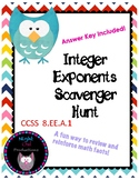 Integer Exponents Scavenger Hunt
