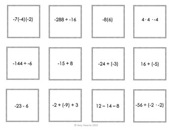 Simplifying Integer Expressions Matching Game