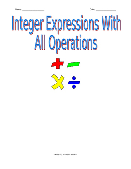 Integer Expressions with all Operations