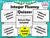 Integer Fluency Quizzes  - 4 weeks worth of timed quizzes