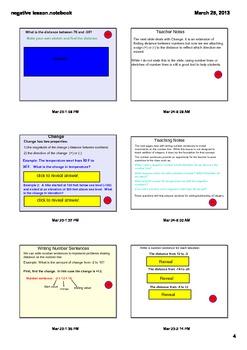 Integer Foundations Smartboard Lesson, homework, answer key