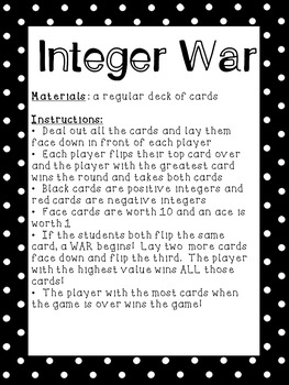 Integer Games