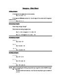 Integer Hint Sheet