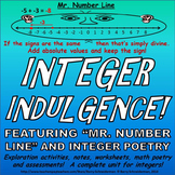 Integers Unit - Subtracting, Adding, Dividing, Multiplying, Word Problems