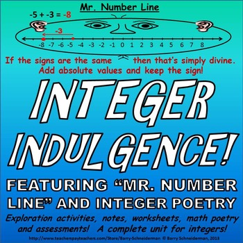 Integers Unit - Subtracting, Adding, Dividing, Multiplying, Word ...