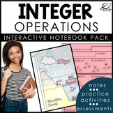 Integers Interactive Notebook Set   Vocabulary and Integer