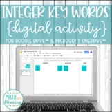 Integer Key Words DIGITAL Card Sort Activity for Google Drive™