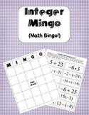 Integer MINGO (Math Bingo)